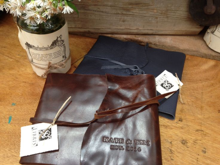 Personalised leather wrap.  www.sblibris.com.au We Craft the Book, You create the Story...