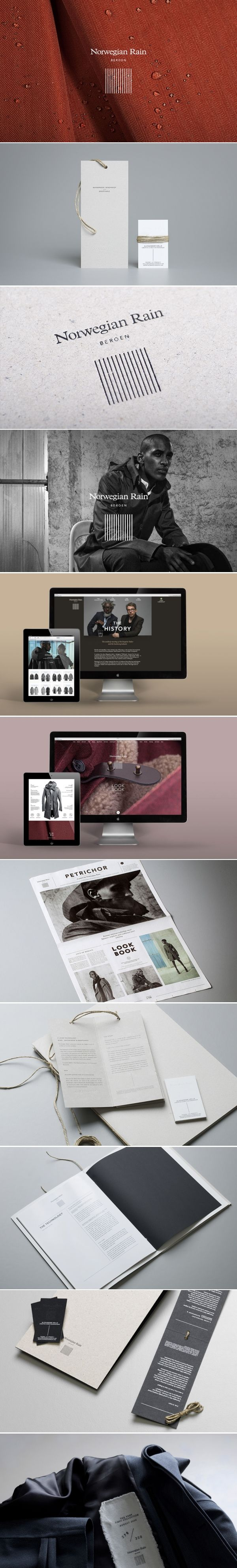 Cool Brand Identity Design. Norwegian Rain. #branding #brandidentity [http://www.pinterest.com/alfredchong/]