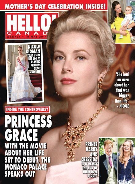 Grace Kelly - Hello! Magazine Cover [Canada] (19 May 2014)