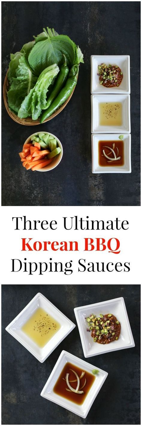 Three Ultimate Korean BBQ Dipping Sauces   MyKoreanKitchen.com