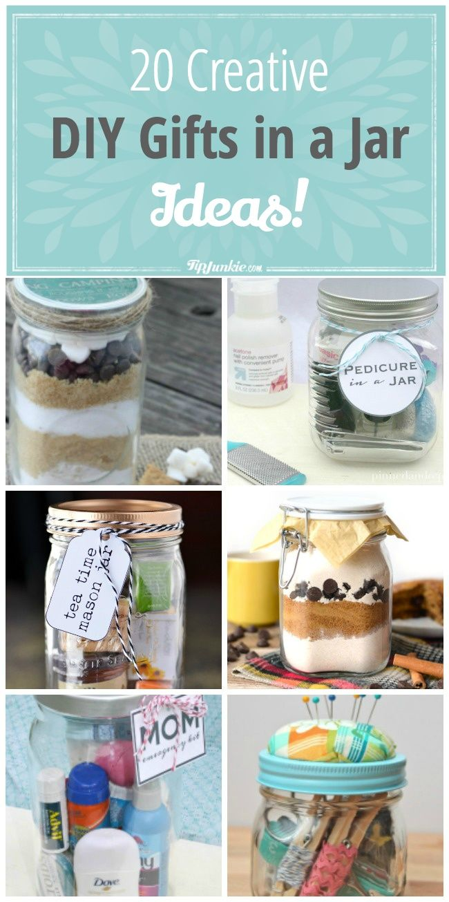 20 CREATIVE GIFT IN A JAR IDEAS!