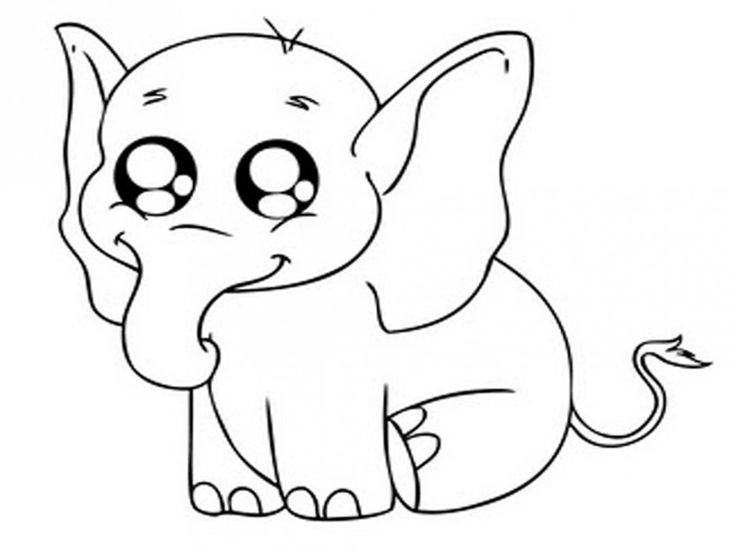 cute animal coloring pages - Cute Animal Coloring Pages