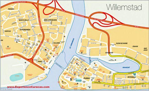 Willemstad PUNDA e OTROBANDA casinhas coloridas dicas de viagem o que fazer Curaçao 06 mapa