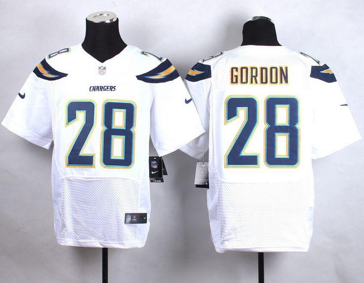 Men's NFL San Diego Chargers #28 Melvin Gordon White Elite Jersey