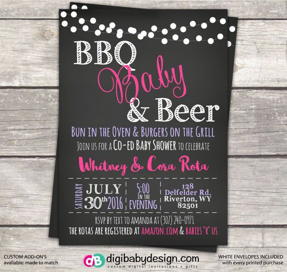 bbq baby and beer baby shower invitation by babyshower bbq party