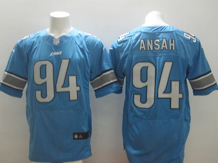 ... team color mens stitched nfl elite jersey nike nfl spain white jersey  mens nike nfl detroit lions 94 ezekiel ansah light blue elite jersey the ... e9e97cc87