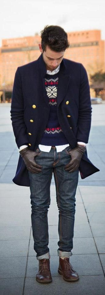 Swell layering - and an awesome peacoat | More outfits like this on the Stylekick app! Download at http://app.stylekick.com