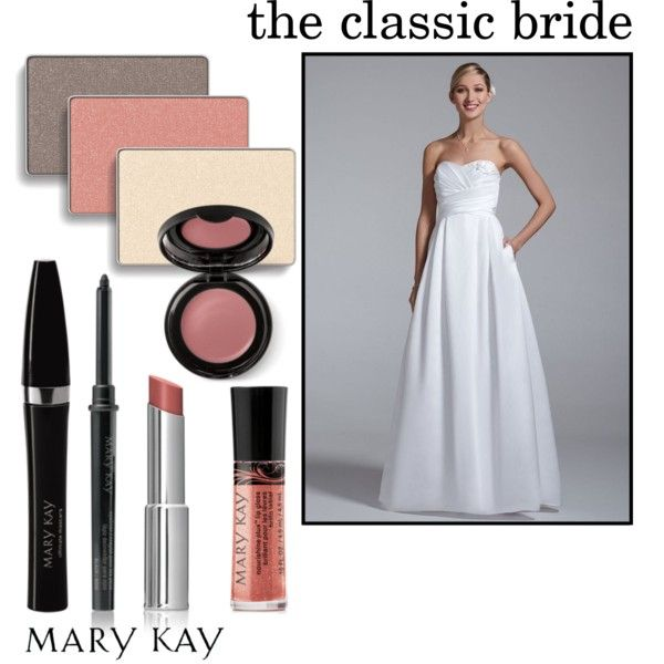 """The Classic Bride"" by marykayus on Polyvore Free consultations www.marykay.com/crystalesantos"
