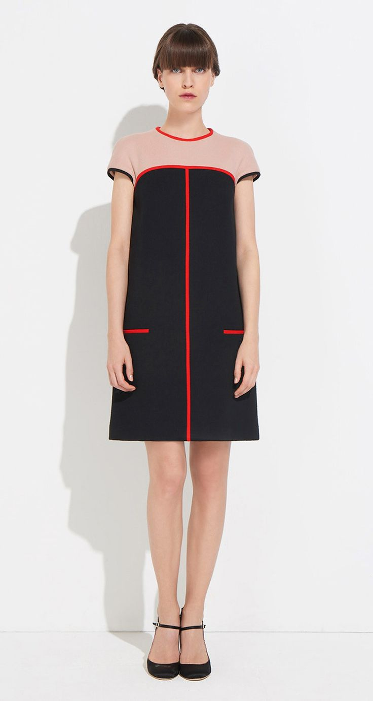 A-line dress in cotton tricotine twill - Paule KA