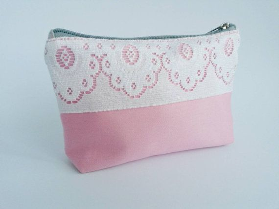 Cosmetics Bag Make-up or Jewelry Pouch Upcycled by RAILOclothing