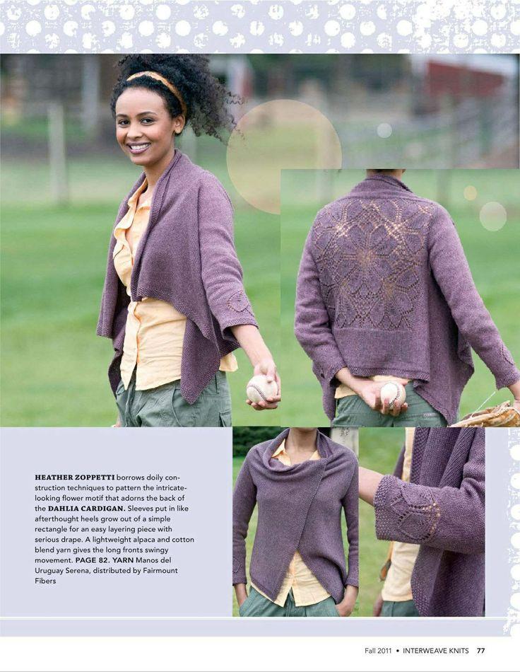 Dahlia Cardigan - interweave-knits-2011-fall