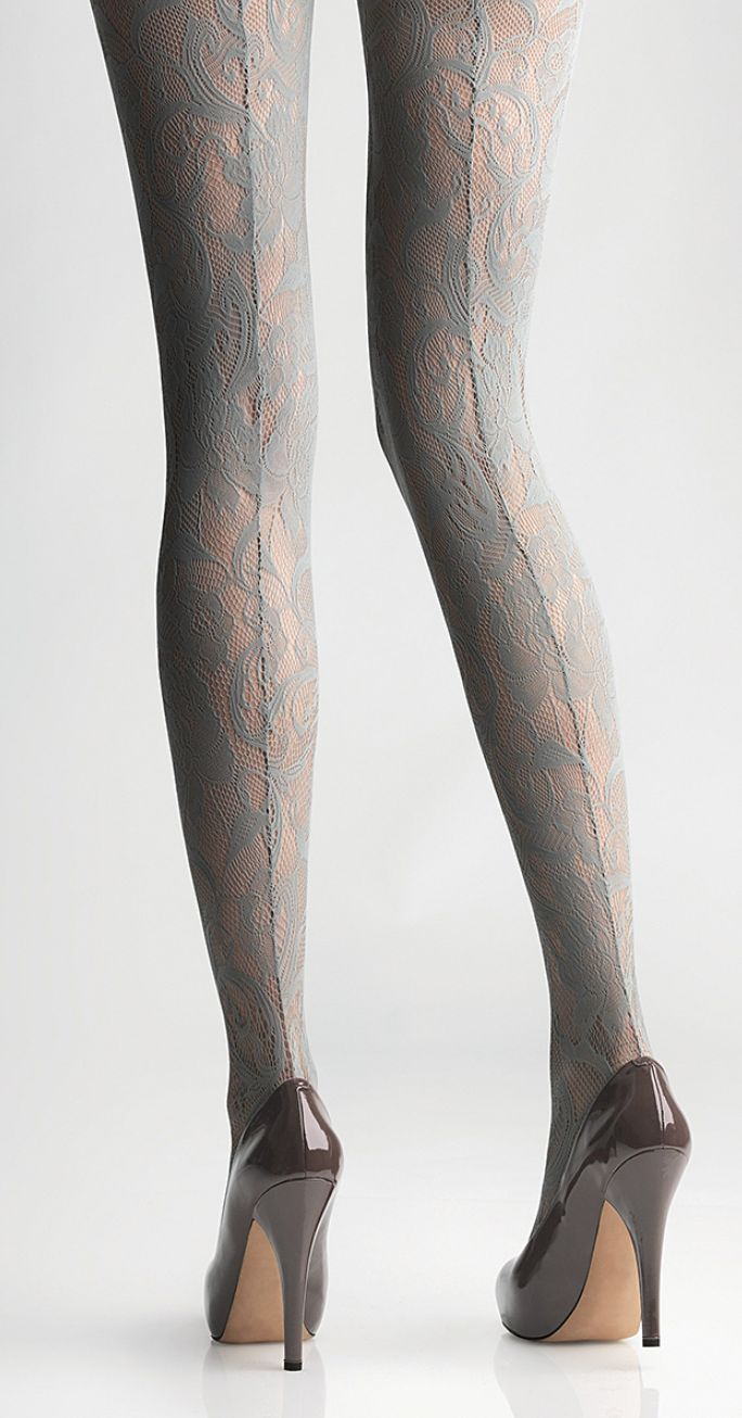 Backseam lace tights. Lovely!!