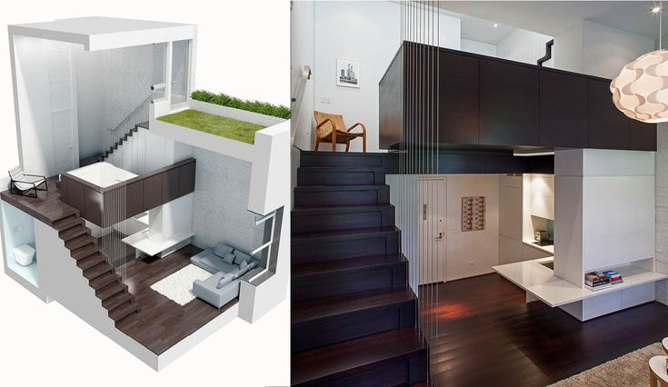 How to furnish an 40 sqm apartment with 25 m from the ceiling.