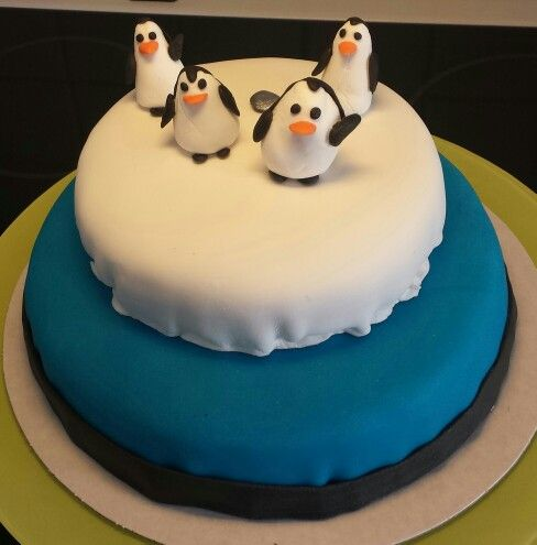 Tårta Pingvinerna från Madagaskar