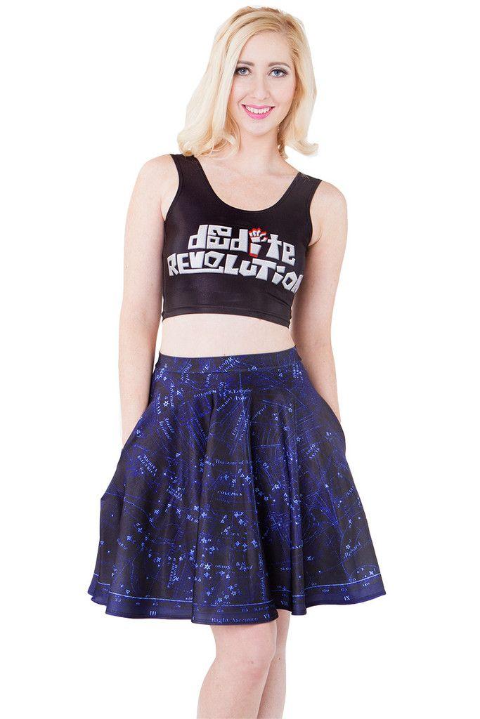 Constellation Pocket Skater Skirt ♥