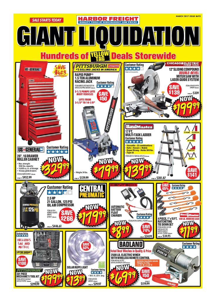 Harbor Freight Tools Monthly Ad March 2017 - http://www.olcatalog.com/harbor-freight-tools/harbor-freight-tools-weekly-flyer.html