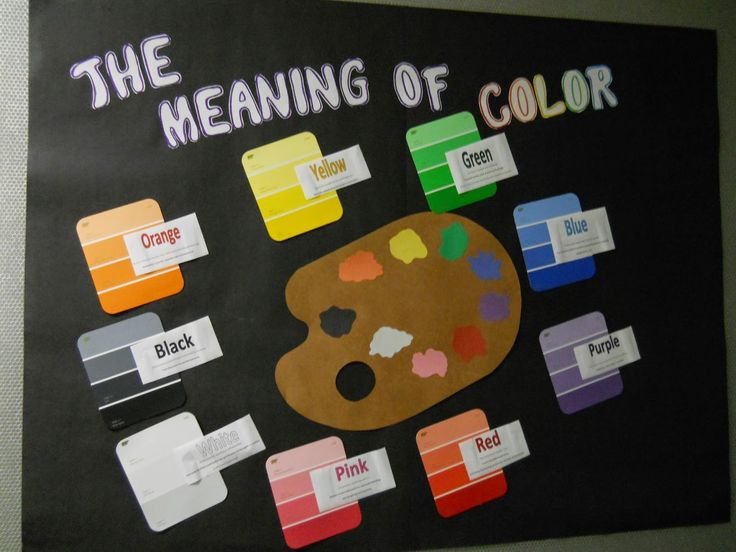 The Meaning Of Color Bulletin Board Part 49
