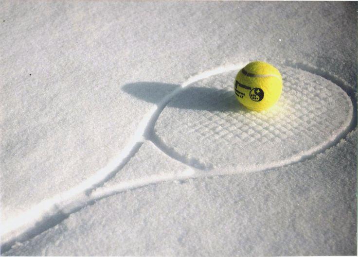 Winter tennis, love this!