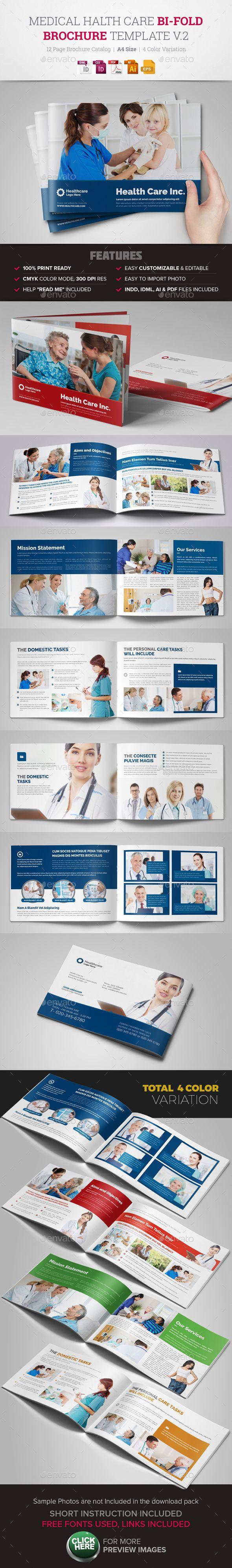 Medical HealthCare Brochure InDesign Template #design Download: http://graphicriver.net/item/medical-healthcare-brochure-indesign-template-v2/14141204?ref=ksioks
