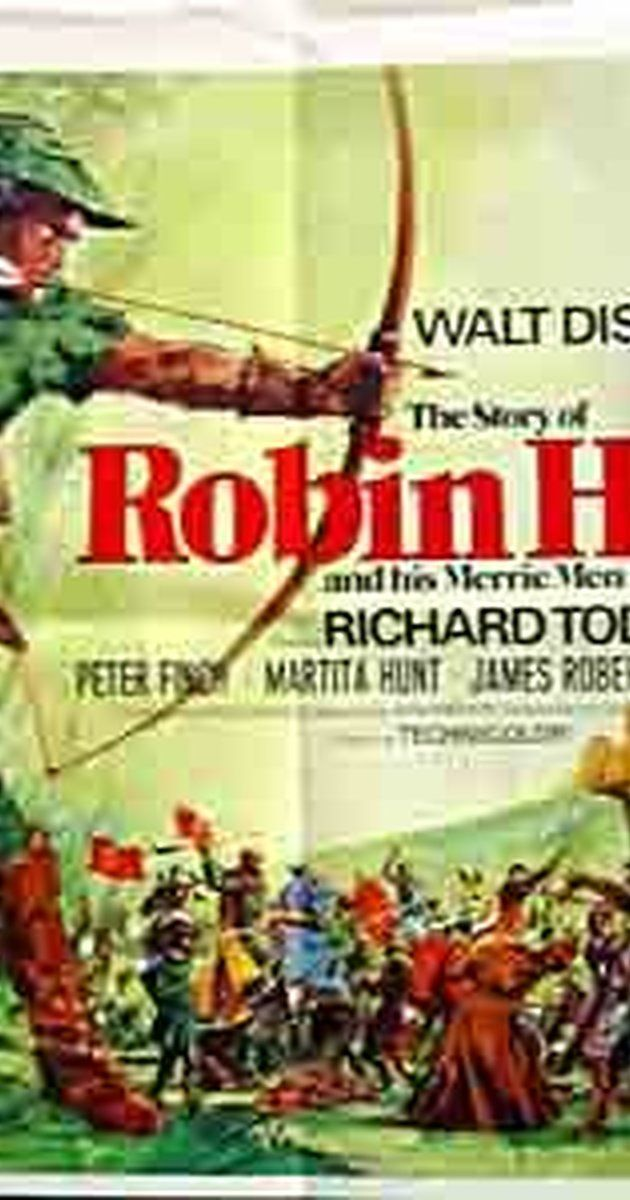 Directed by Ken Annakin.  With Richard Todd, Joan Rice, Peter Finch, James Hayter. Young Robin Hood, in love with Maid Marian, enters an archery contest with his father at the King's palace. On the way home his father is murdered by hench men of Prince John. Robin takes up the life of an outlaw, gathering together his band of merry men with him in Sherwood Forest, to avenge his father's death and to help the people of the land that Prince John are over taxing.