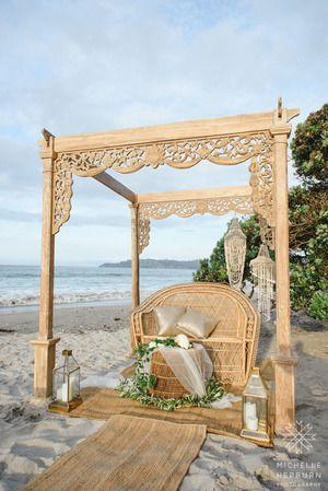 Image Michelle Hepburn Photography. Styling & Hire by My Waiheke. Waiheke Island Wedding/ Styled Shoot