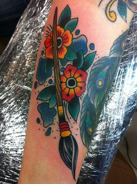 Paintbrushes tattoo