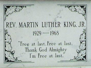 Martin Luther King Gravesite at Martin Luther King Jr Center, Atlanta, Georgia