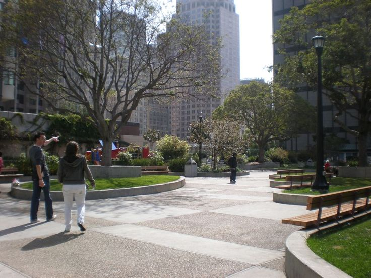 """""""Park Above, Park Below"""":  Rooftop Parks Reach New Heights SANFRANCISCO ST MARYS PARK"""