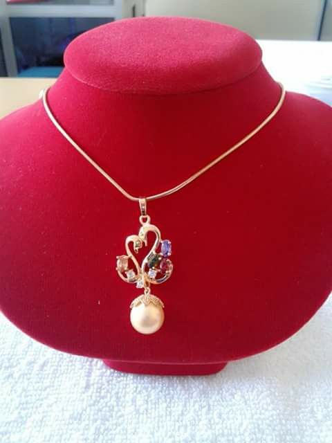 Fresh water pearl necklace,$18.00