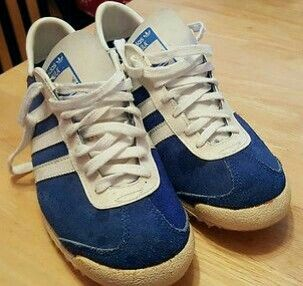 Adidas Sula 'Made in France' released in the 70's in blue suede with white