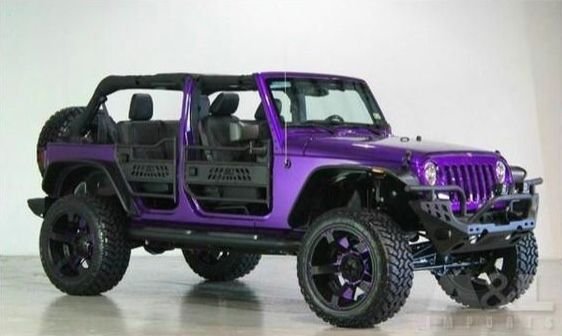 2014 JEEP Wrangler Unlimited (modified) - PURPLE!!