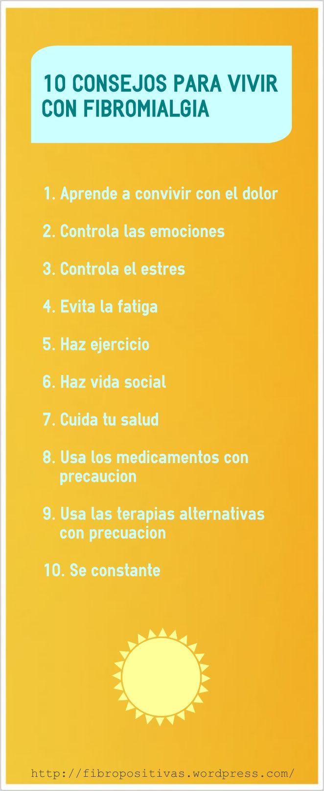 10 consejos para vivir con fibromialgia.