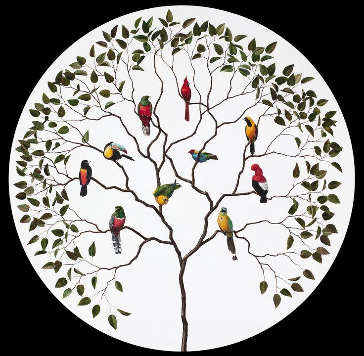 Coro Nacional - OLeo sobre madera - 100  X 100 cms - PedroRuiz