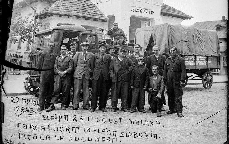 Factory magnate Nicolae Malaxa is pictured in this photograph (fourth from the left). The very controversial figure was close to King Carol ...