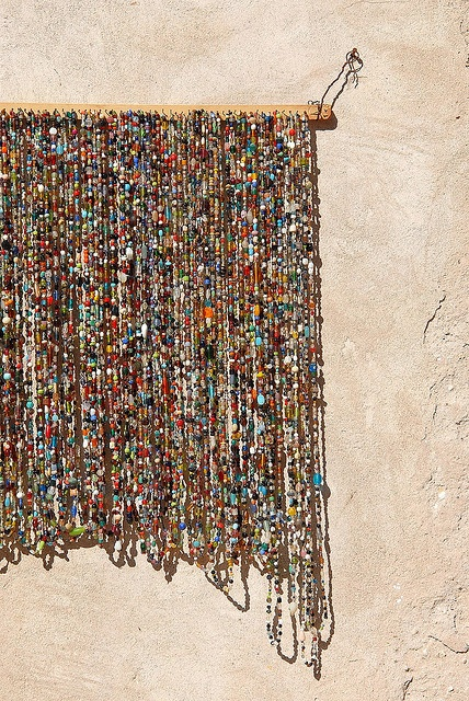 Hang strands of beads
