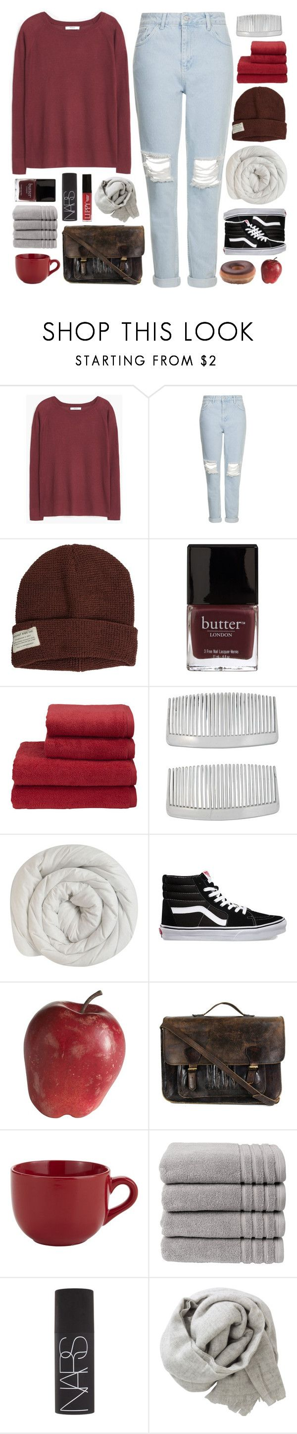 """""""drifter"""" by adal1ne ❤ liked on Polyvore featuring MANGO, Topshop, Krochet Kids, Butter London, Christy, John Lewis, Vans, Pier 1 Imports, Priestley's Vintage and NARS Cosmetics"""