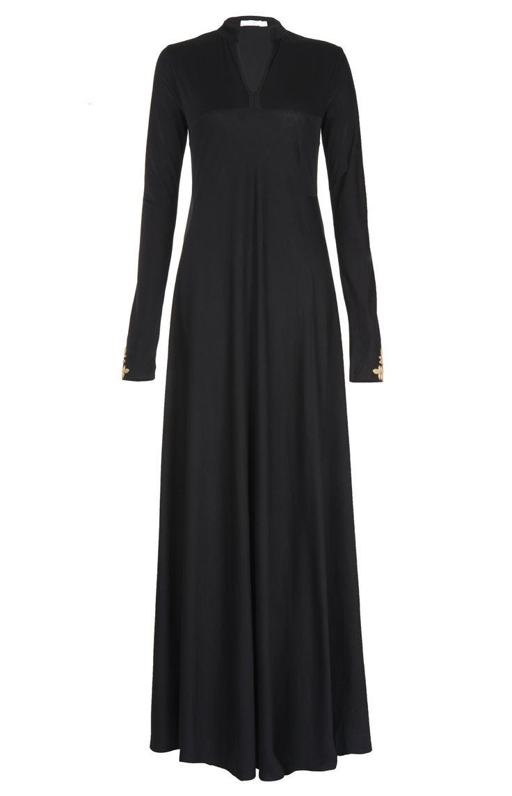 Aab UK Black Gold Neem Abaya : Standard view