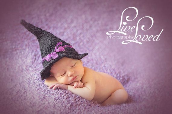 Download PDF crochet pattern 052 - Witch hat - Multiple sizes from newborn through 4 years old on Etsy, $3.95