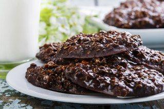 Galletas de avena cubiertas de chocolate