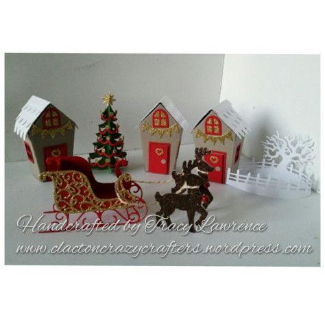 3d Christmas village | clacton crazy crafters