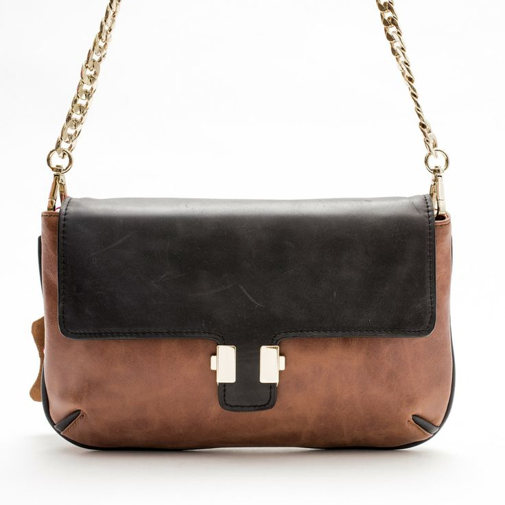 Juliet Clutch/ Sling Bag (Tan/Black) by Pink Corporation | ilovehandbags.com.au