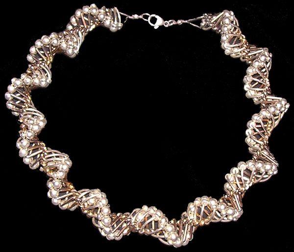 Metal ribbon spiral