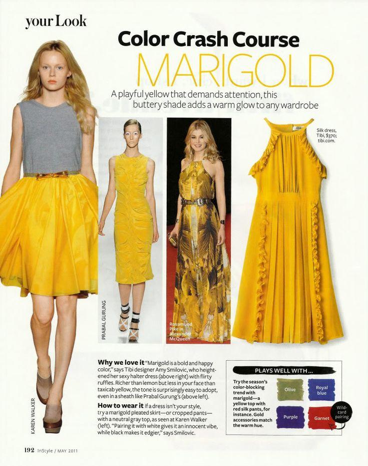 Color Crash Course Marigold, InStyle magazine, May 2011, Photo by AllThingsMarie | Photobucket