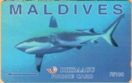 Maldives - GPT, Grey Shark, 10MLDC, 2/00, Used