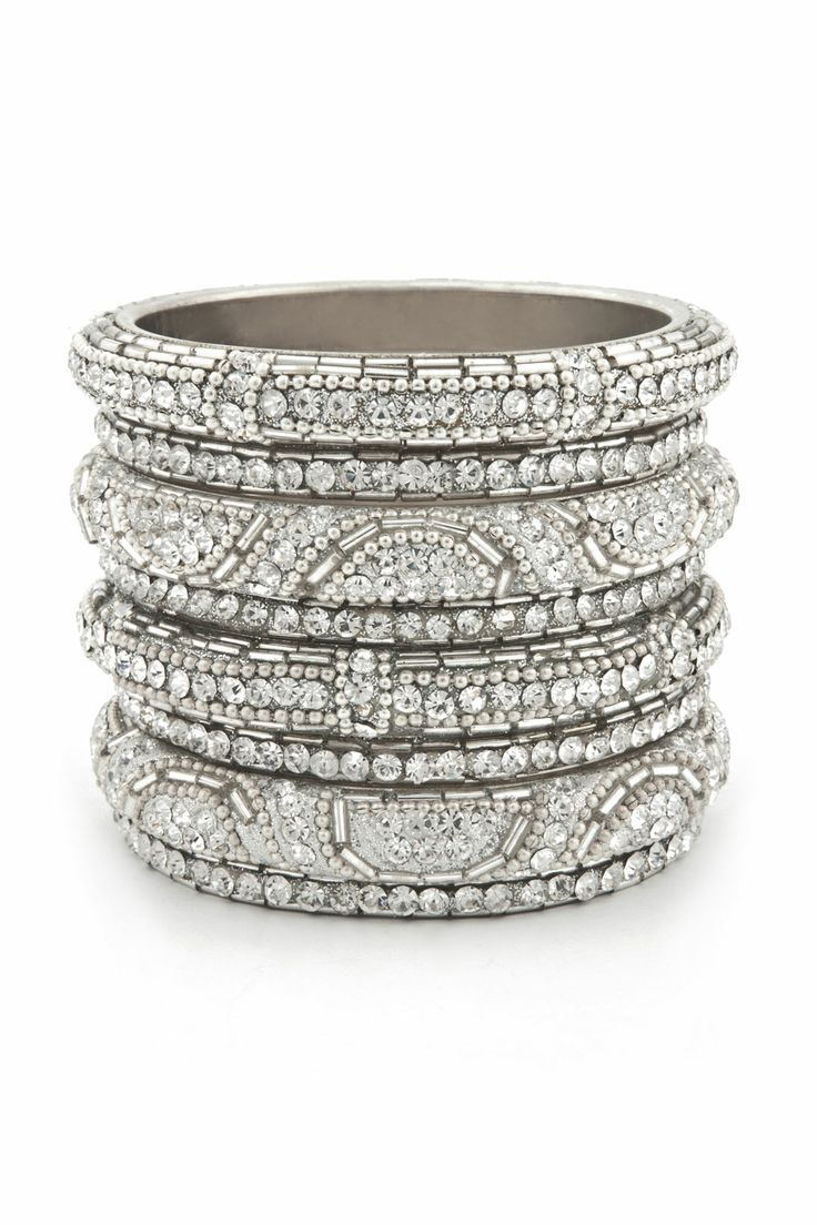 and   canada Glitz gel Bangle Bangles Silver Set  Set     Silver Bangle kayano