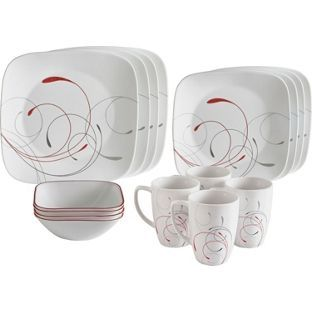 Buy Corelle Splendor 16 Piece Dinner Set - Multicoloured at Argos.co.uk, visit Argos.co.uk to shop online for Crockery