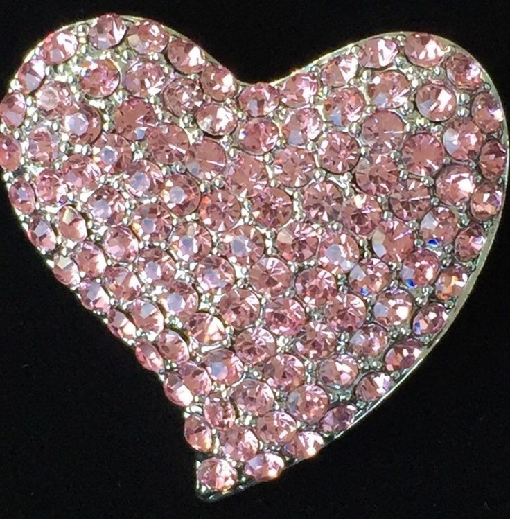 PINK SILVER RHINESTONE VALENTINES DAY FRIEND LOVE CUPID HEART PIN BROOCH JEWELRY #Unbranded #PINBROOCHJEWELRY