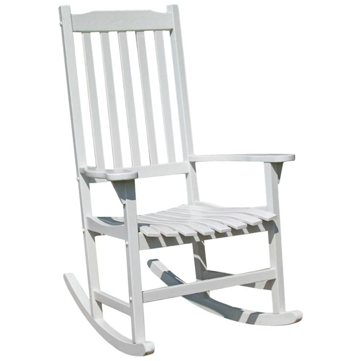 Parklawn White Acacia Outdoor Traditional Rocking Chair - Style # 5N167