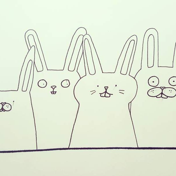 Bunnies!  #illustration #blackandwhite #easter #bunnylove #bunnies #finlandssvensk #vaasa #stockholm #designer #behappy