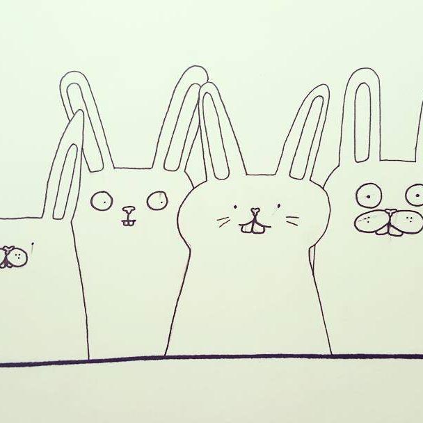 Bunnies!  #illustration #blackandwhite #easter #bunnylove #bunnies #finlandssvensk #vaasa #stockholm #designer #behappy
